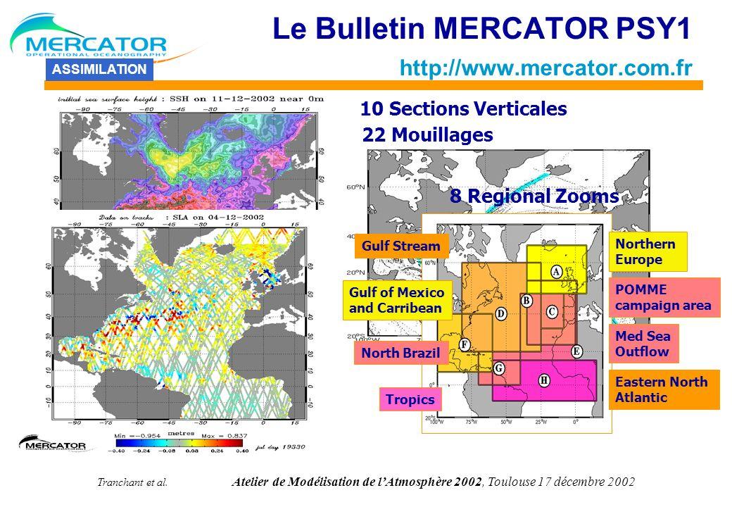 Tranchant et al. Atelier de Modélisation de lAtmosphère 2002, Toulouse 17 décembre 2002 PREMIER PROTOTYPE REGIONAL Modèle au 1/3° sur lAtlantique Nord