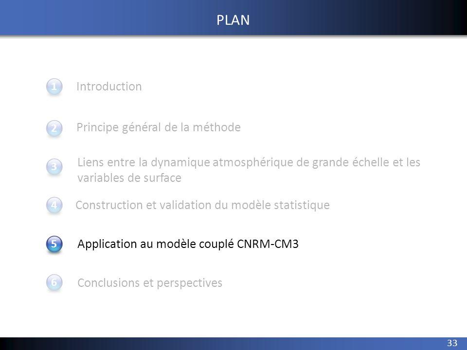 33 1 234 Introduction Principe général de la méthode Application au modèle couplé CNRM-CM3 Conclusions et perspectives 5 PLAN Construction et validati
