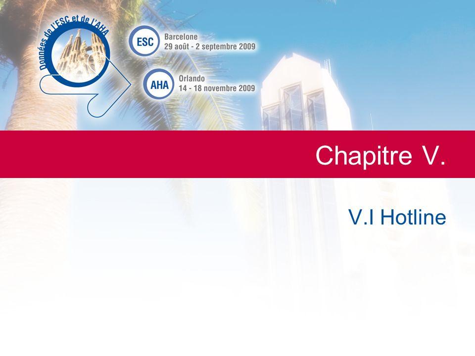 LESC de A à Z La Lettre du Cardiologue Chapitre V. V.I Hotline