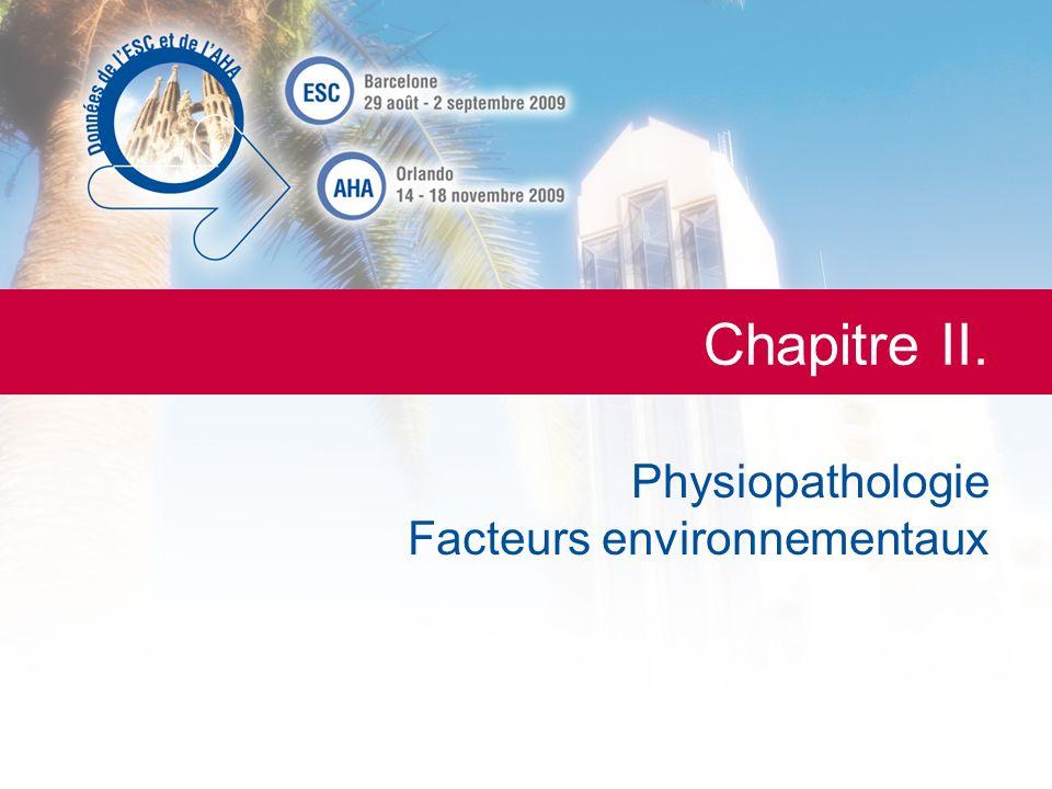 LESC de A à Z La Lettre du Cardiologue Chapitre II. Physiopathologie Facteurs environnementaux