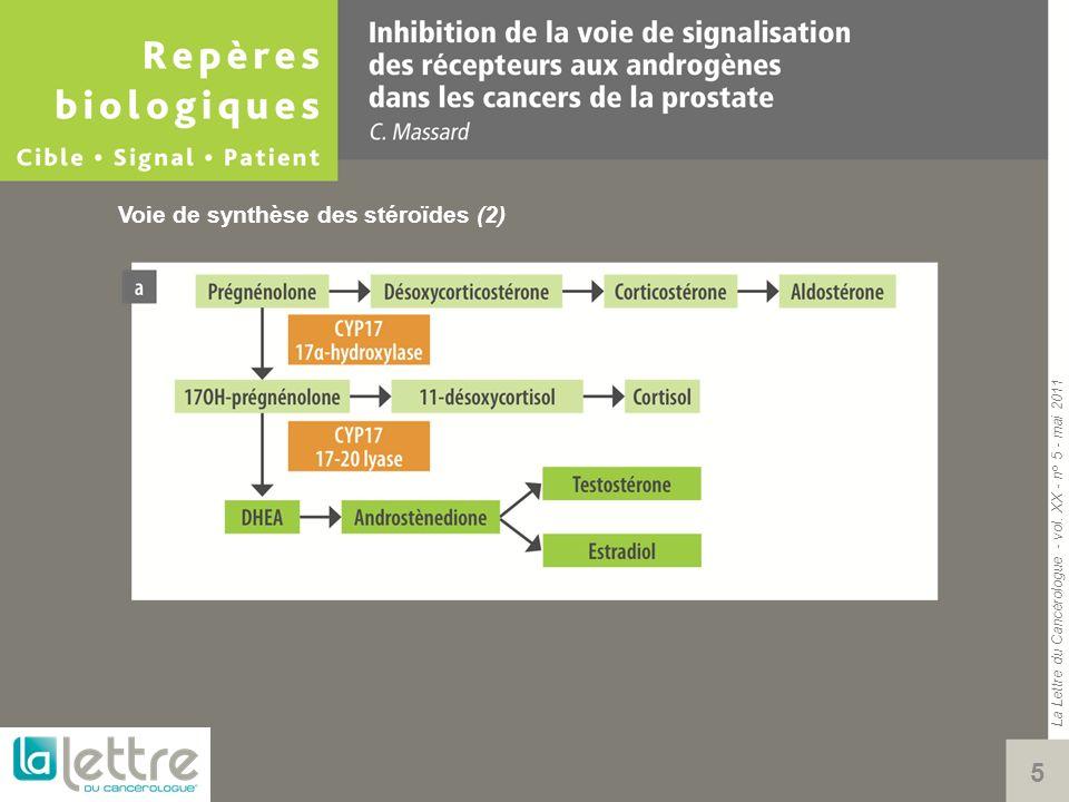 La Lettre du Cancérologue - vol. XX - n° 5 - mai 2011 5 Voie de synthèse des stéroïdes (2)