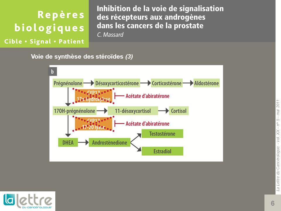 La Lettre du Cancérologue - vol. XX - n° 5 - mai 2011 7 Voie de synthèse des stéroïdes (4)