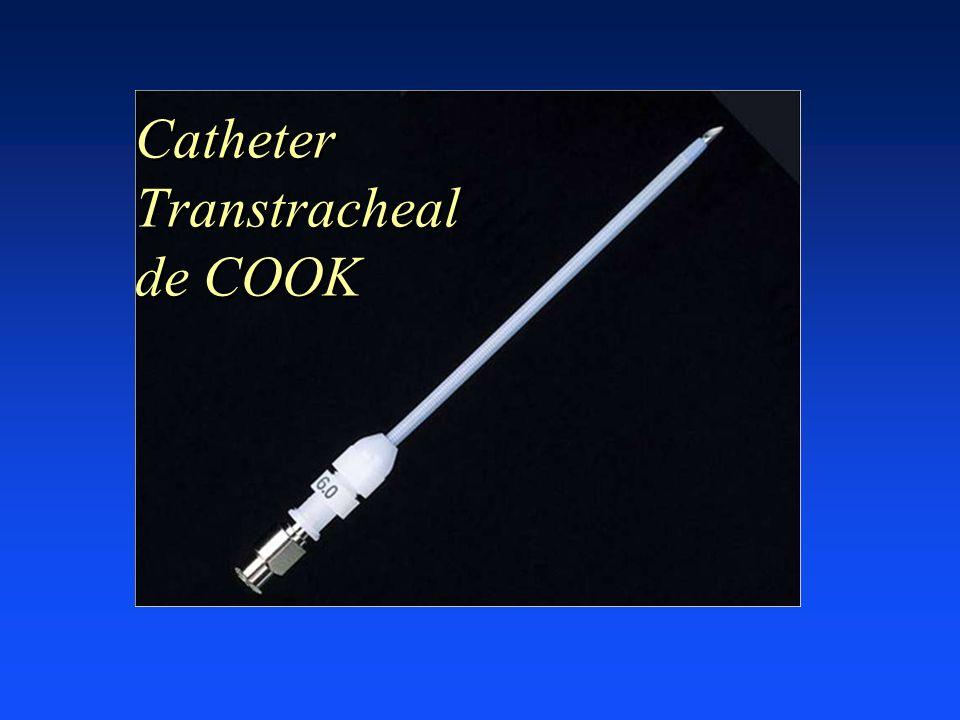 Catheter Transtracheal de COOK