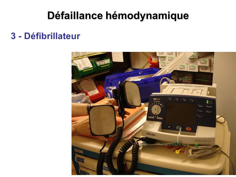 Défaillance hémodynamique 3 - Défibrillateur