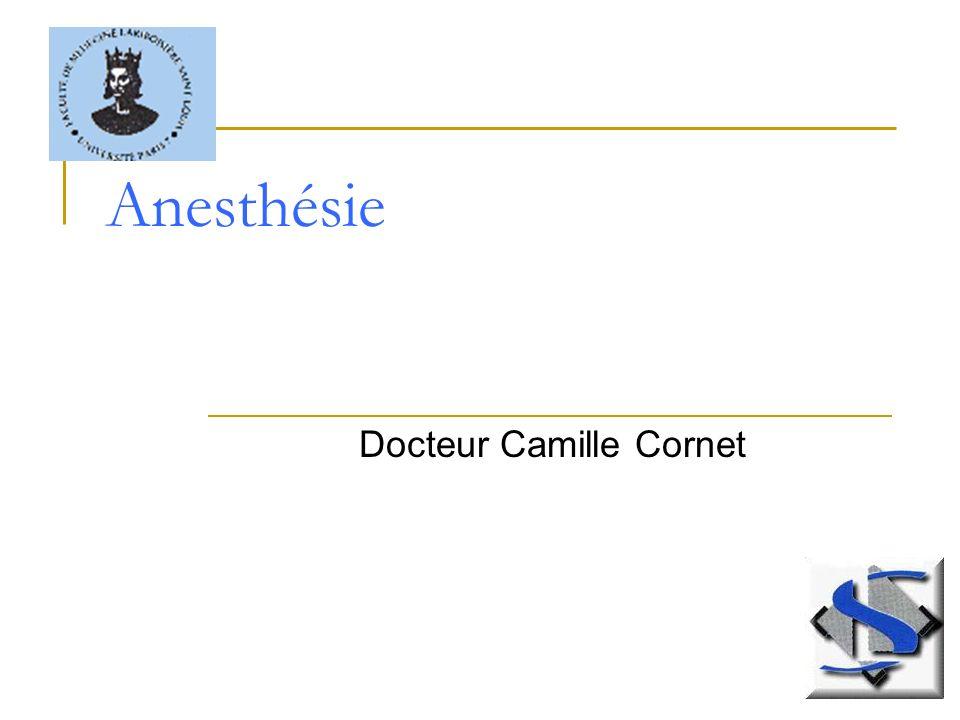 Anesthésie Docteur Camille Cornet