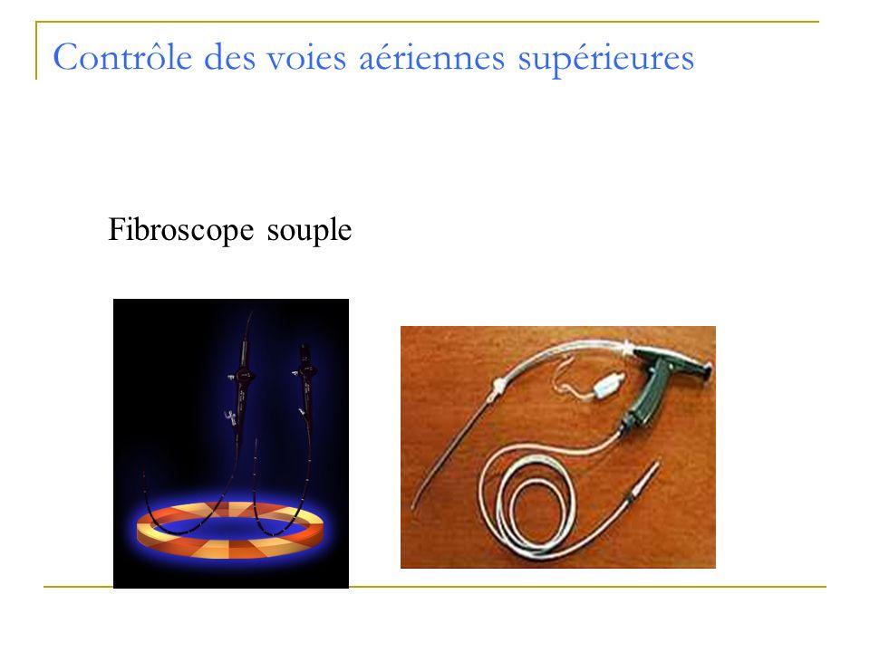 Contrôle des voies aériennes supérieures Fibroscope souple