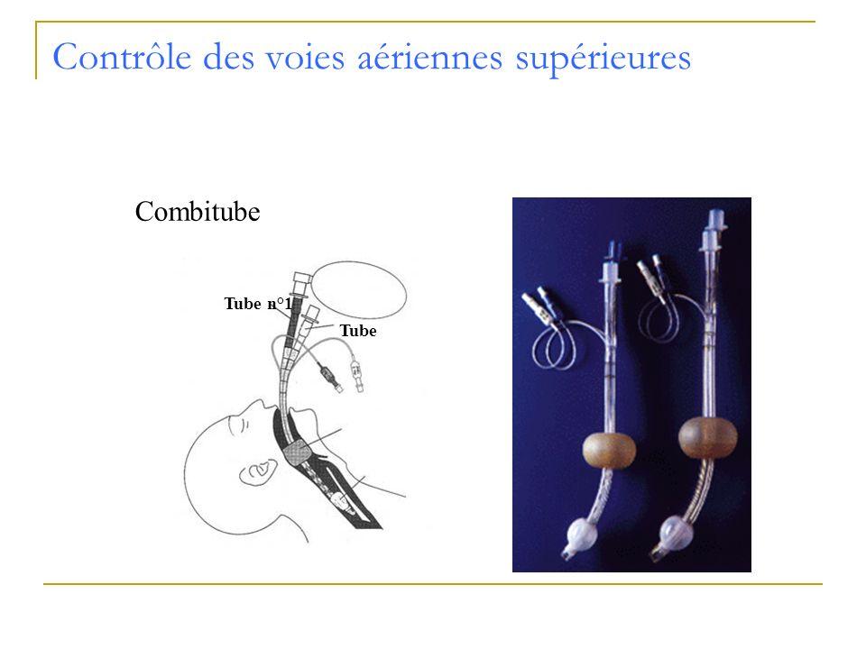 Contrôle des voies aériennes supérieures Combitube Tube n°1 Tube