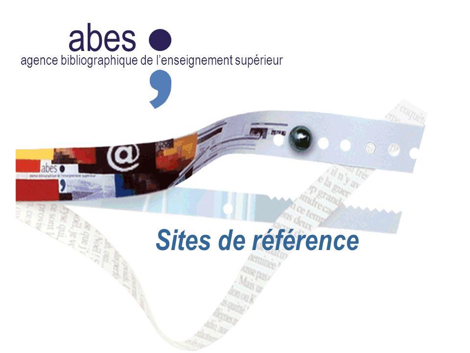 abes agence bibliographique de lenseignement supérieur Sites de référence
