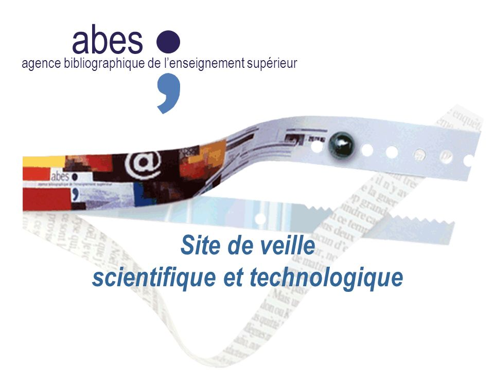 abes agence bibliographique de lenseignement supérieur Site de veille scientifique et technologique