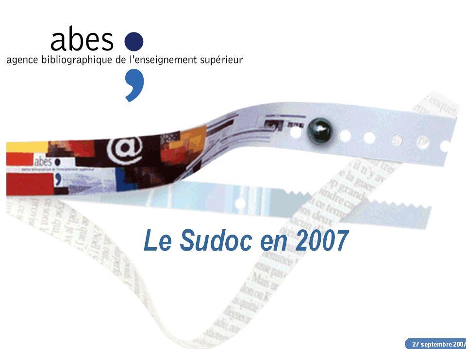 27 septembre 2007 abes agence bibliographique de lenseignement supérieur