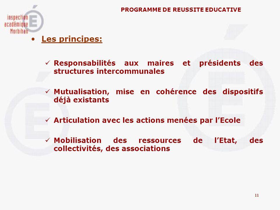 Les principes: Responsabilités aux maires et présidents des structures intercommunales Mutualisation, mise en cohérence des dispositifs déjà existants