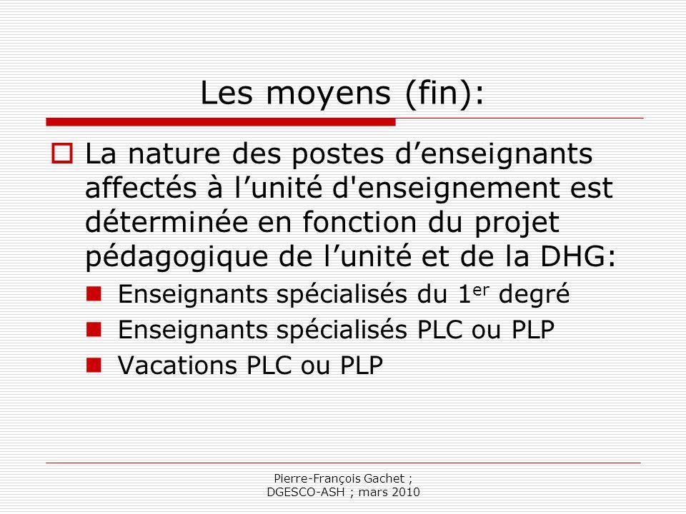 Pierre-François Gachet ; DGESCO-ASH ; mars 2010 Articles dexécution (article 2 g et 2 h) La configuration des locaux (HS et accessibilité) Les conditions de révision ou de résiliation de la convention la convention est révisée dans sa totalité tous les trois ans.