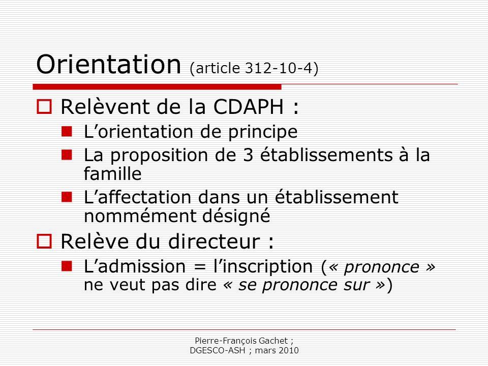 Pierre-François Gachet ; DGESCO-ASH ; mars 2010 Les conventions (article 312-10-6) Conventions constitutives (autorités respectives) et conventions exécutives : Objectif : réaliser les PPS Précise les modalités dintervention des professionnels MS dans les établissements scolaires.