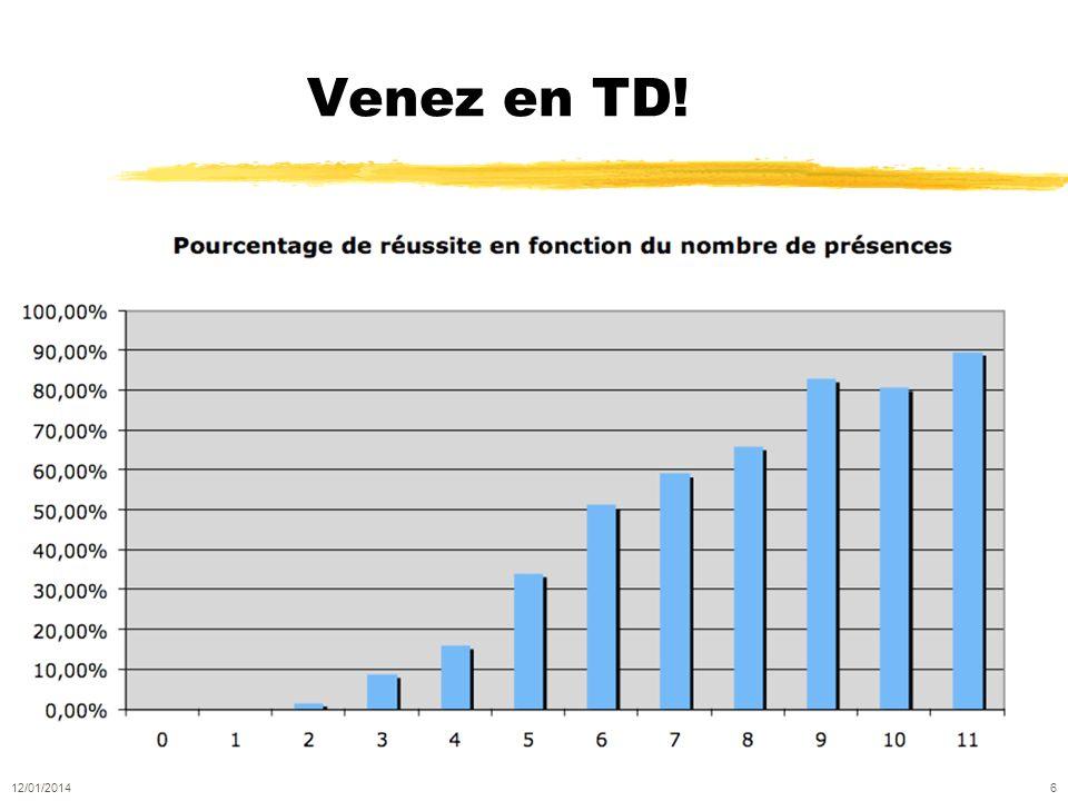 Venez en TD! 12/01/2014 6