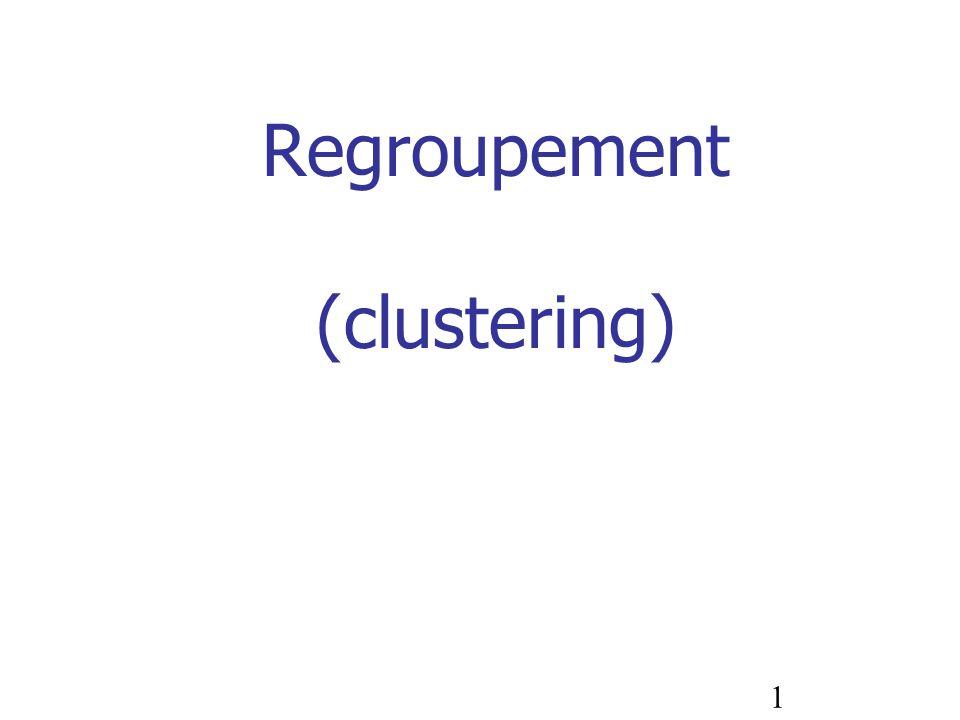 1 Regroupement (clustering)