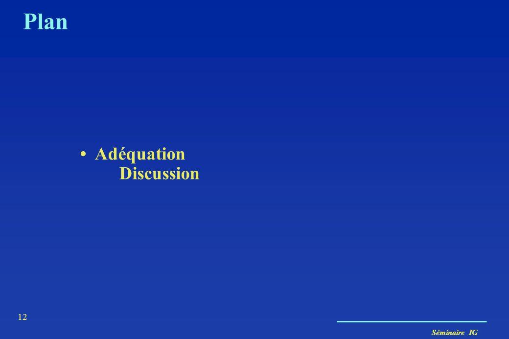 Séminaire IG 12 Plan Adéquation Discussion