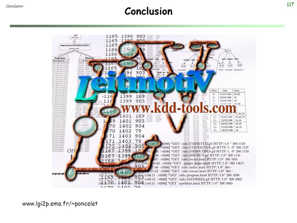 117 Conclusion www.lgi2p.ema.fr/~poncelet