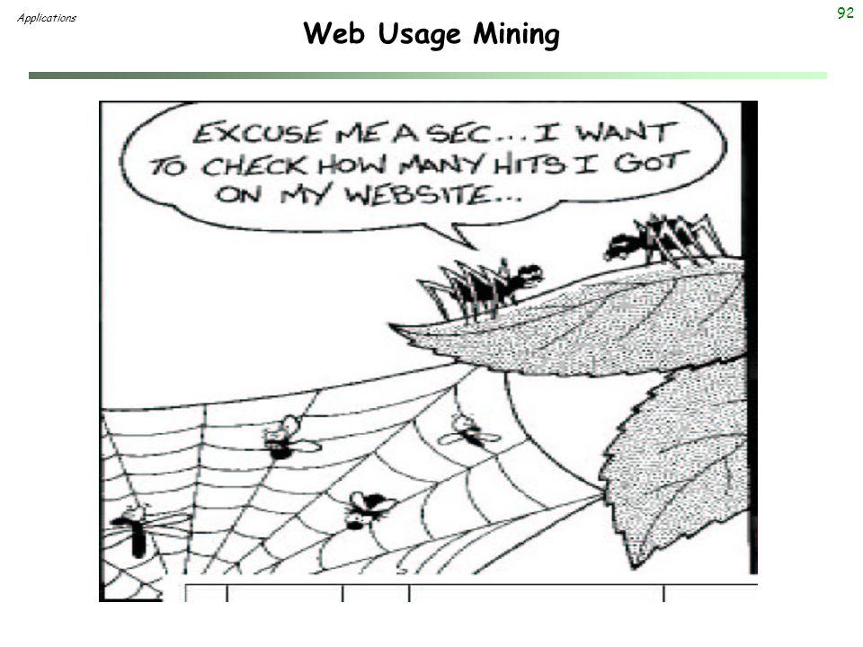 92 Web Usage Mining Applications