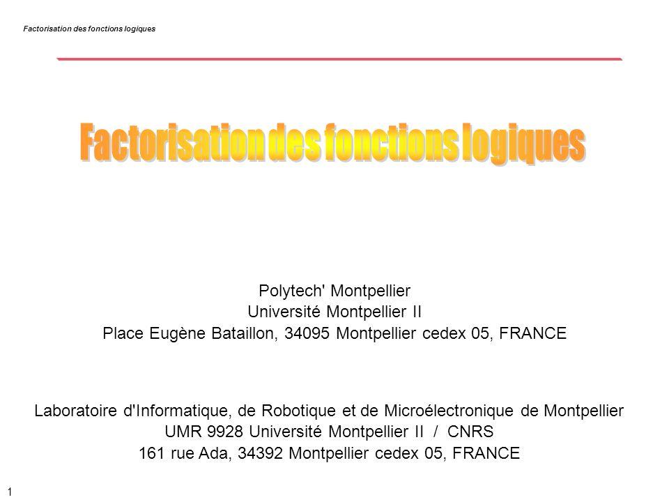 2 F = a.c + a.d + b.c + b.d Factorisation => F = (a + b).