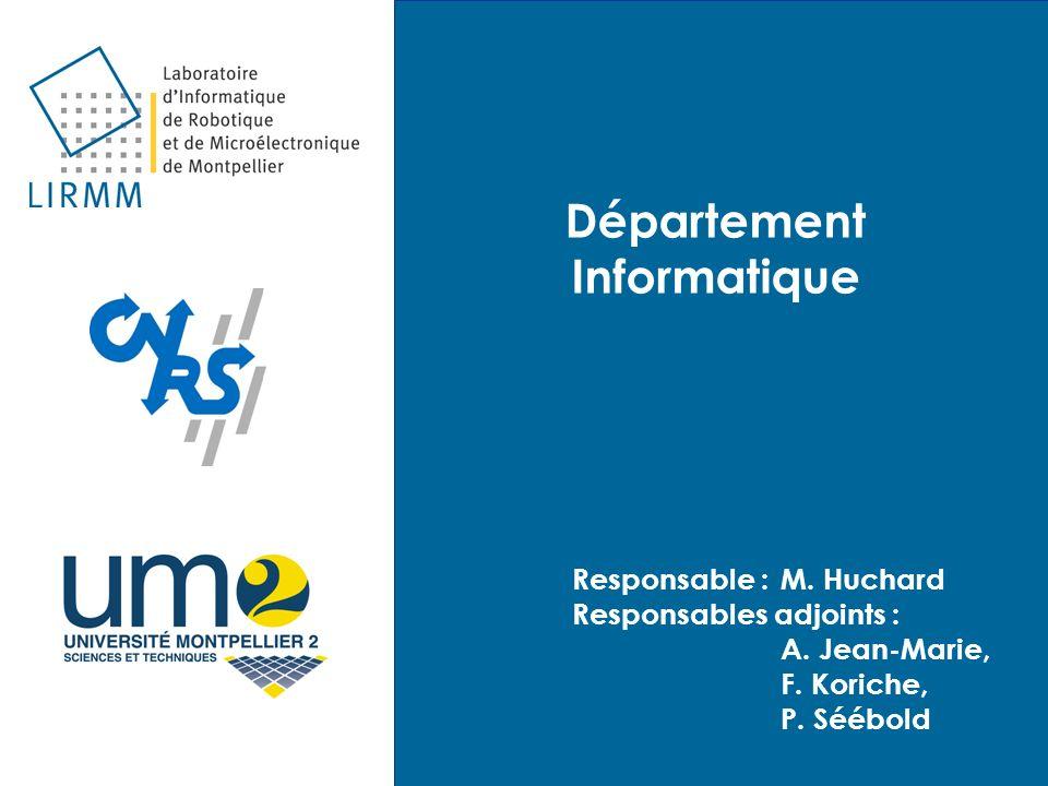 Département Informatique Responsable :M. Huchard Responsables adjoints : A. Jean-Marie, F. Koriche, P. Séébold