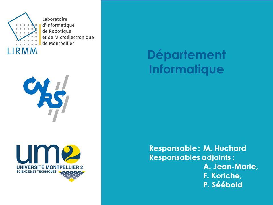 Département Informatique Responsable :M. Huchard Responsables adjoints : A. Jean-Marie, F. Koriche, P. Séébold Département Informatique Responsable :M