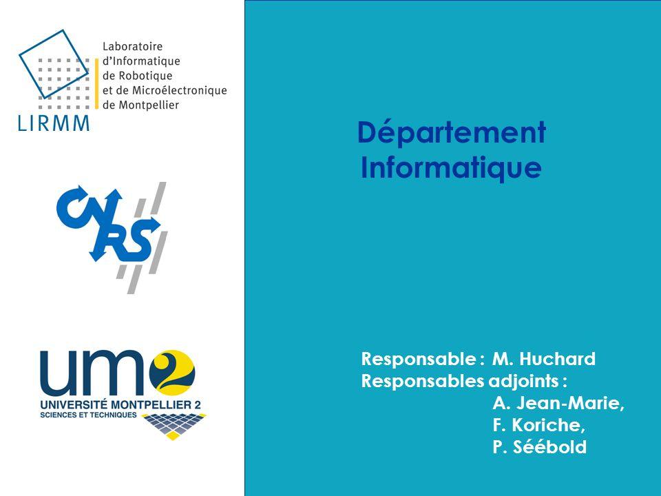 Département Informatique Responsable :M.Huchard Responsables adjoints : A.