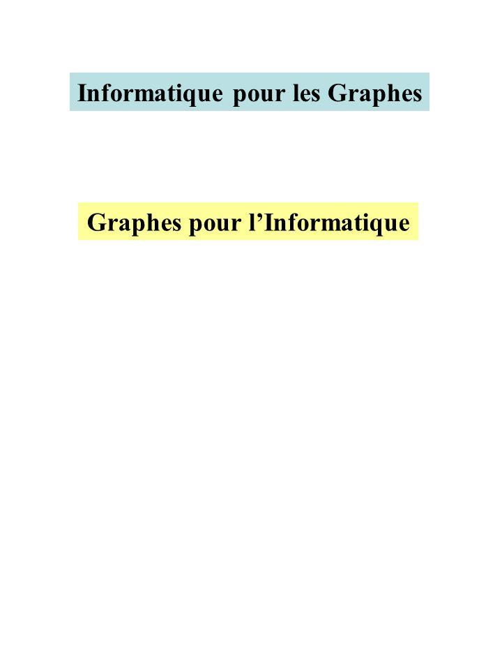 Graphes pour lInformatique Informatique pour les Graphes