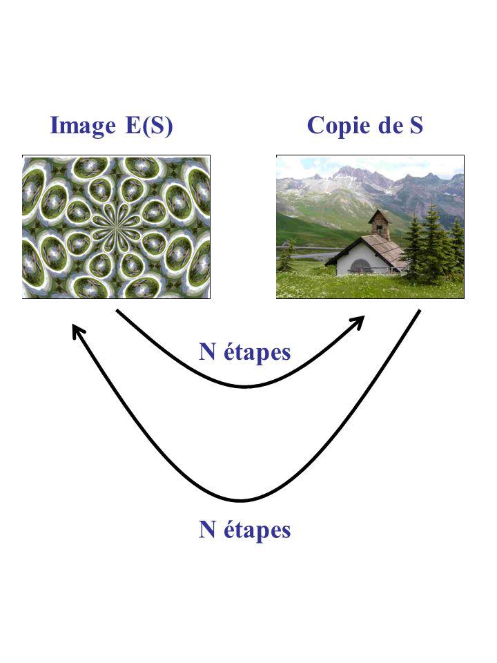 SCopie de S N étapes Image E(S) N étapes