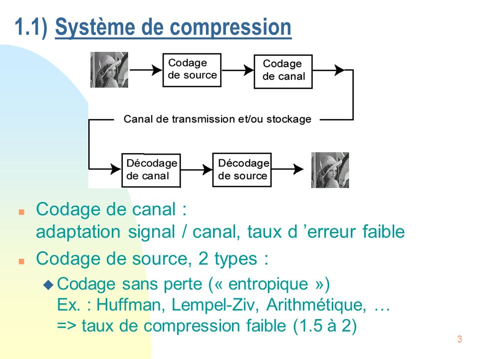 34 Codage entropique avec JPEG n Coeff.DC : u mise en correspondance : valeurs coeff.