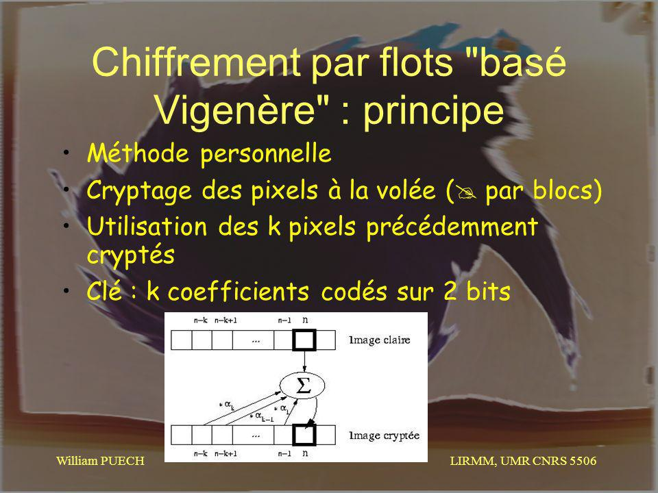 LIRMM, UMR CNRS 5506 William PUECH Chiffrement par flots