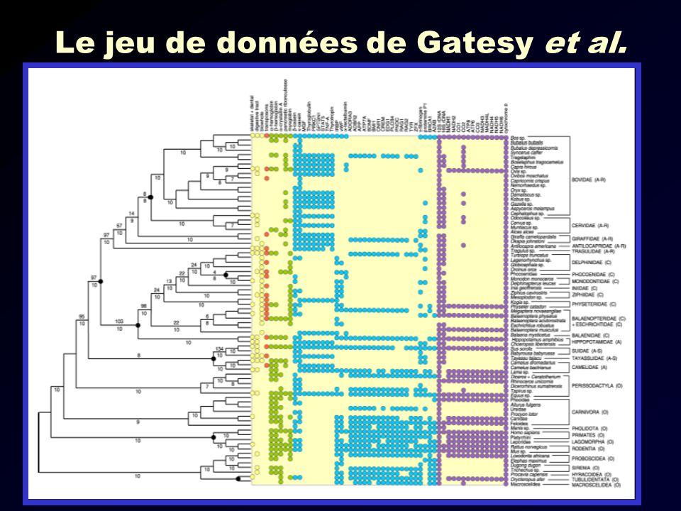Le jeu de données de Gatesy et al.