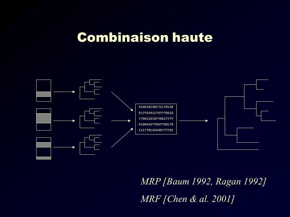 Combinaison haute MRP [Baum 1992, Ragan 1992] MRF [Chen & al.