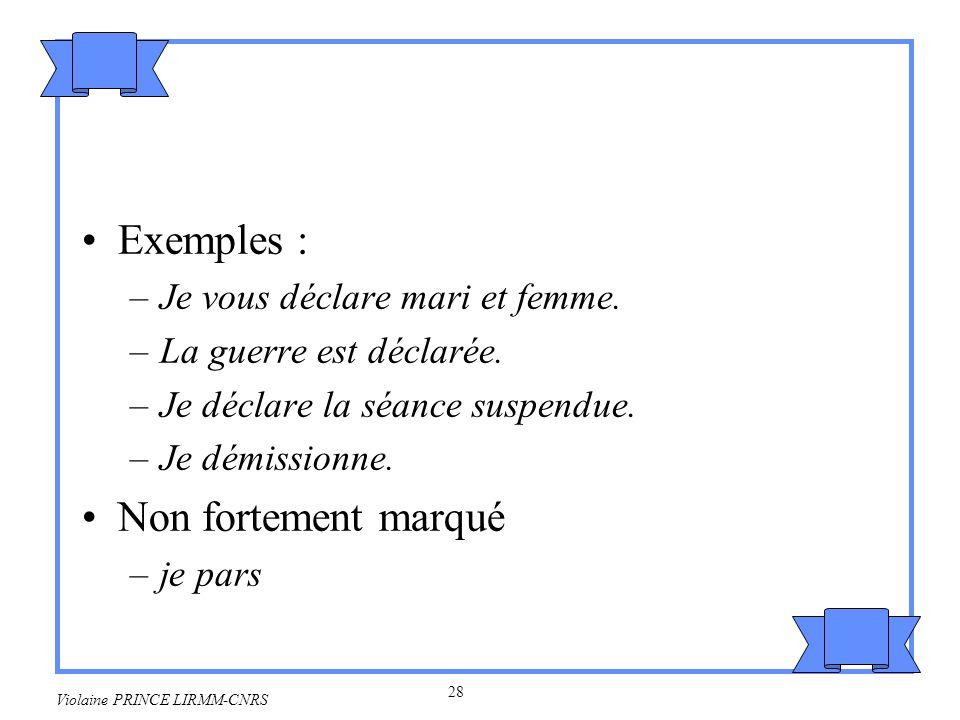 29 Violaine PRINCE LIRMM-CNRS