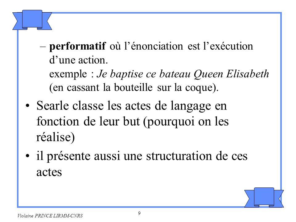 10 Violaine PRINCE LIRMM-CNRS 2.1.