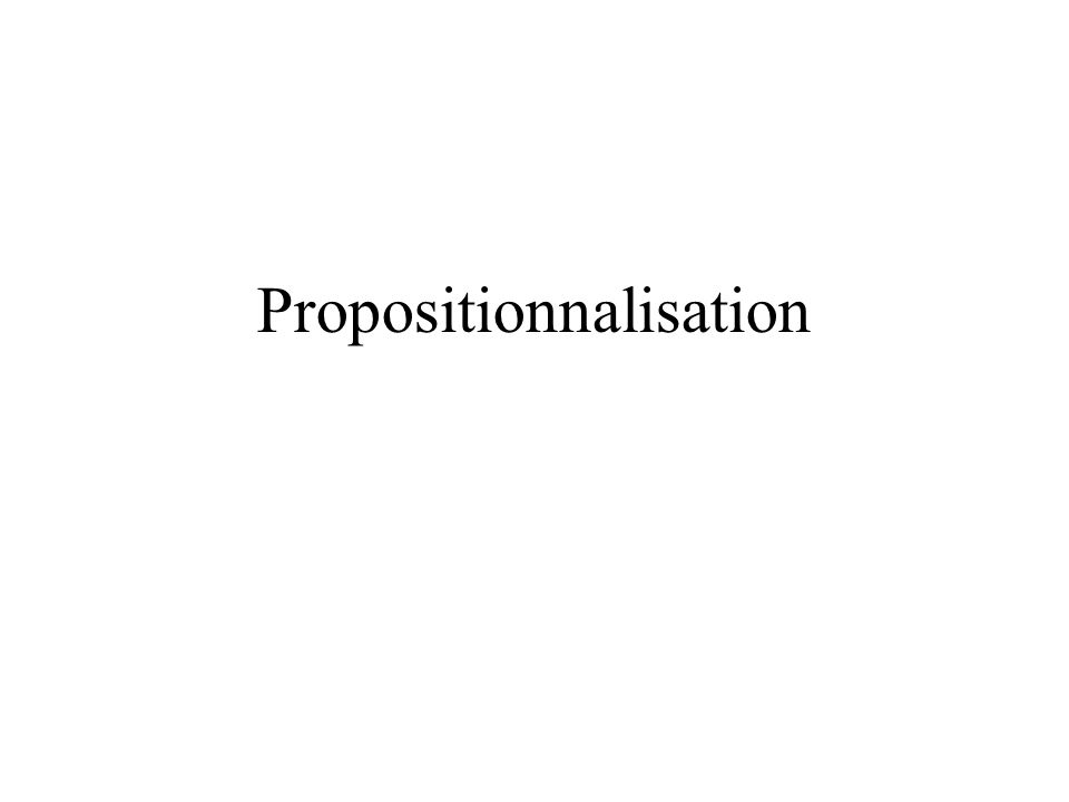 Propositionnalisation