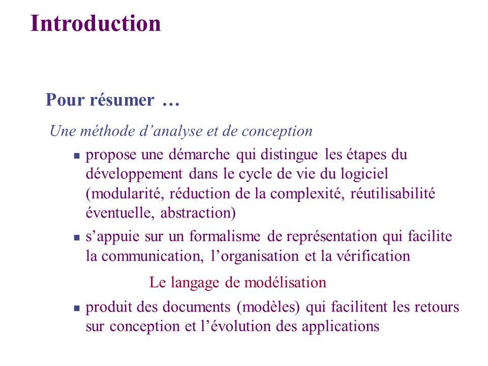 Une méthode danalyse et de conception propose une démarche qui distingue les étapes du développement dans le cycle de vie du logiciel (modularité, réd