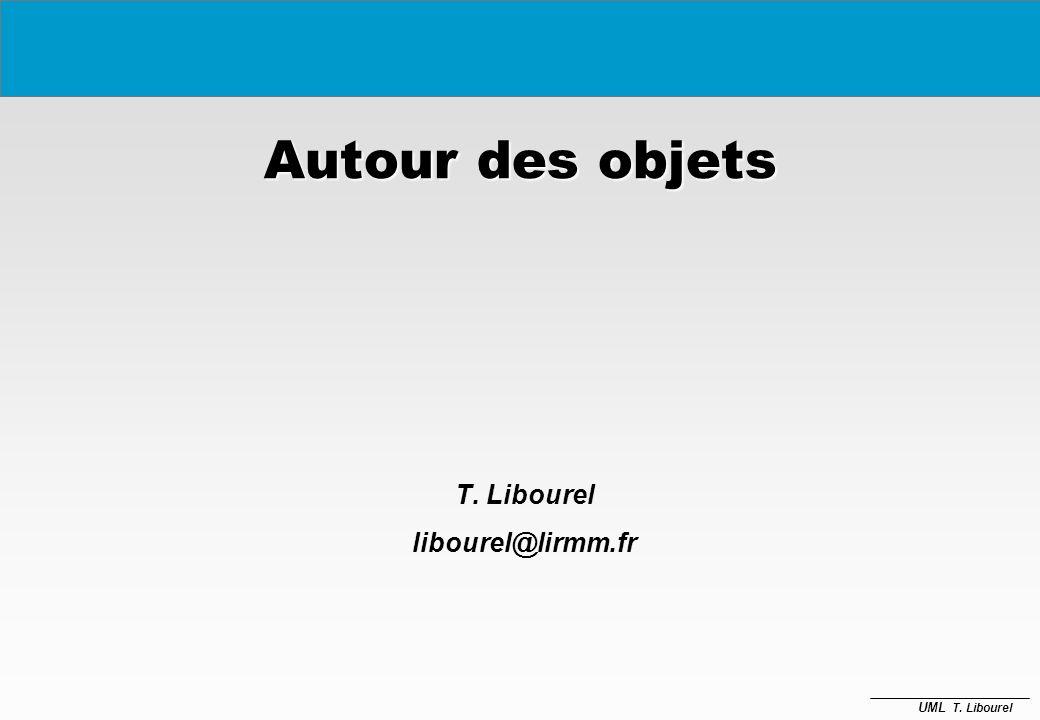 UML T.Libourel État 1 faire : Activité 1 Événement 1 [Cond1] / Action1 (attrib) État 2...