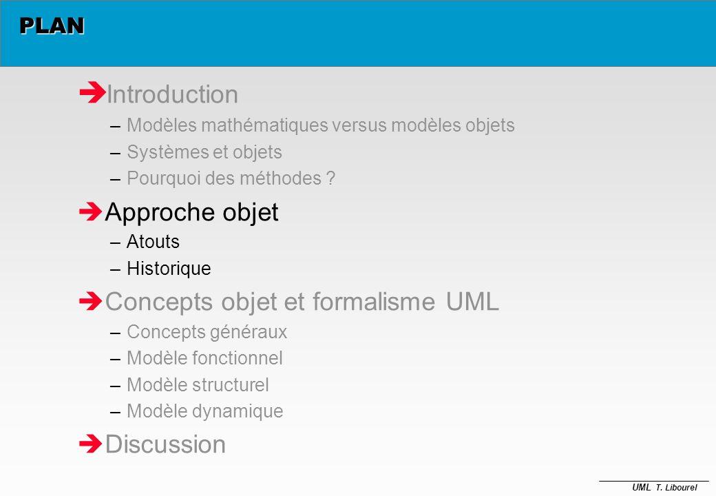 UML T. Libourel Pourquoi des méthodes ? è Démarche qui distingue les étapes du développement dans le cycle de vie du logiciel –Modularité, réduction d