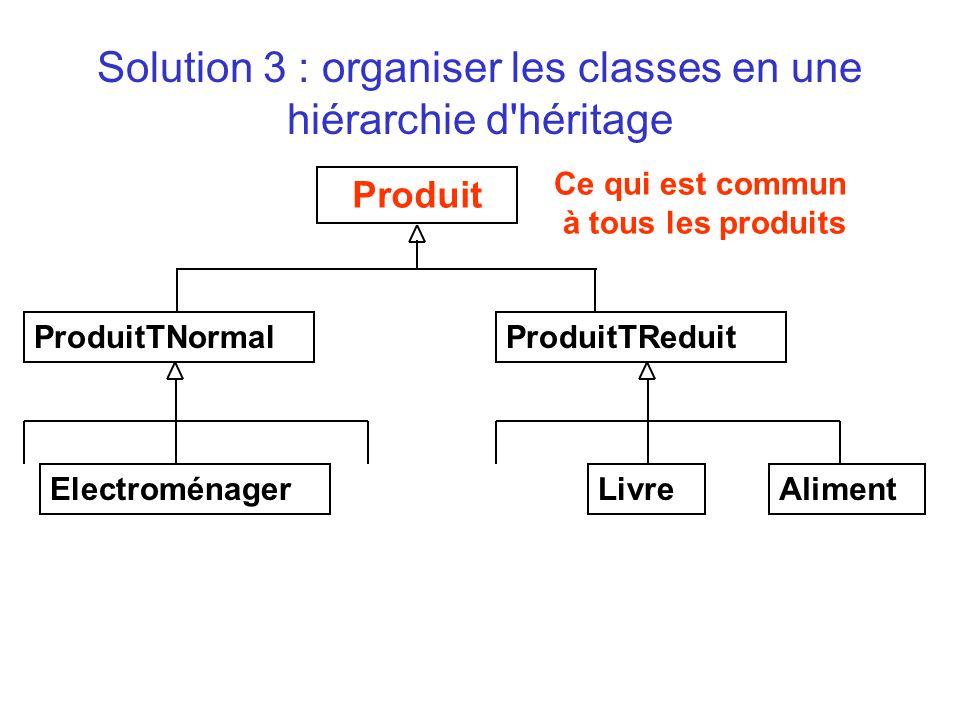 public class ProduitTNormal extends Produit { ….