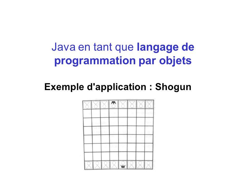 Java en tant que langage de programmation par objets Exemple d'application : Shogun