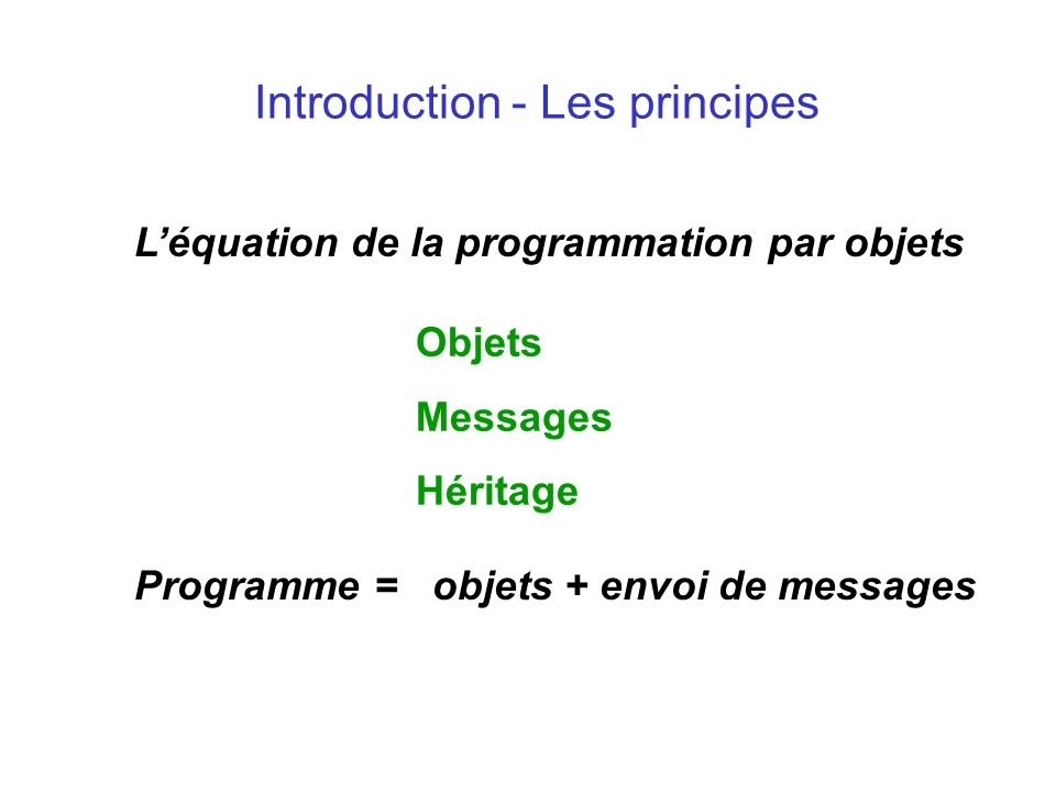 Java en tant que langage de programmation par objets Exemple d application : Shogun