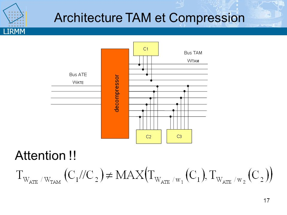 LIRMM 17 Architecture TAM et Compression Attention !!