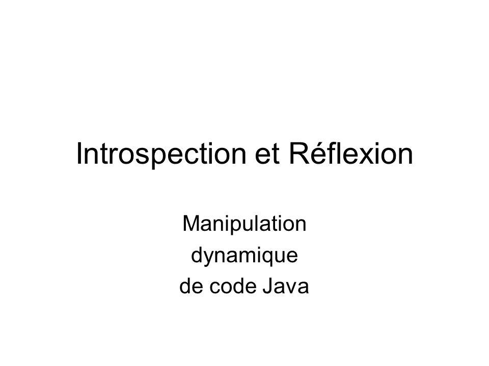 Introspection et Réflexion Manipulation dynamique de code Java