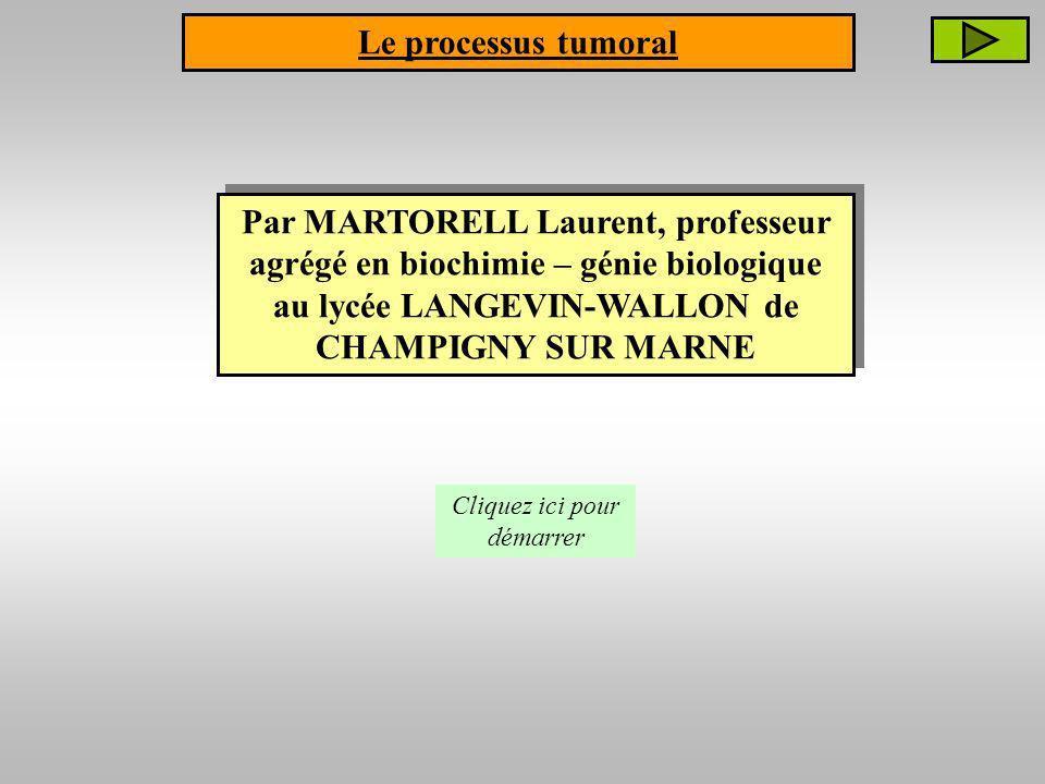 Par MARTORELL Laurent, professeur agrégé en biochimie – génie biologique au lycée LANGEVIN-WALLON de CHAMPIGNY SUR MARNE Cliquez ici pour démarrer Le