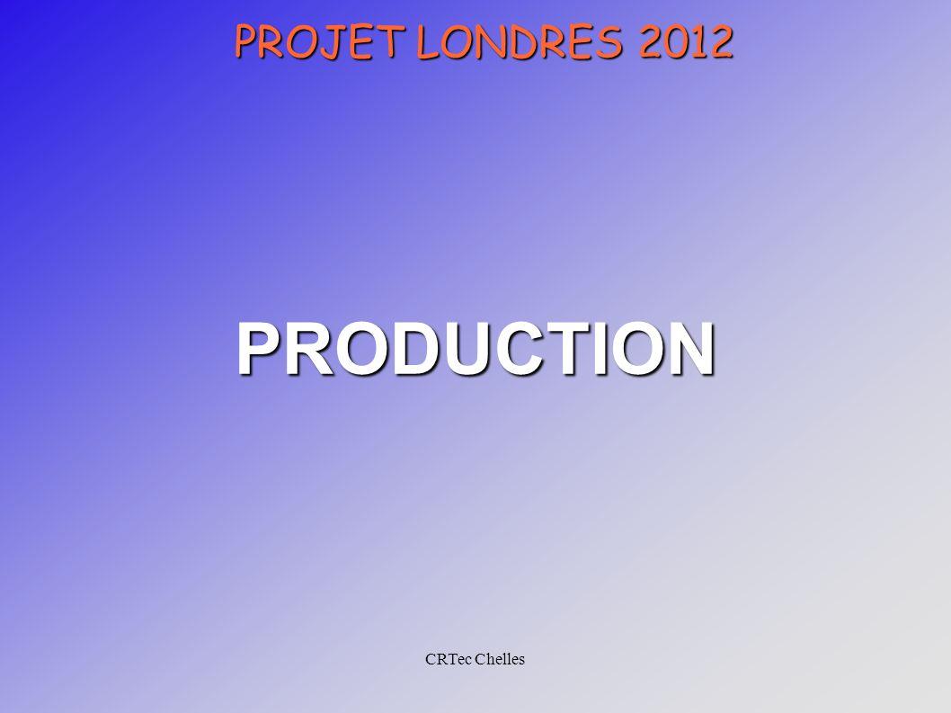 CRTec Chelles PROJET LONDRES 2012 PRODUCTION