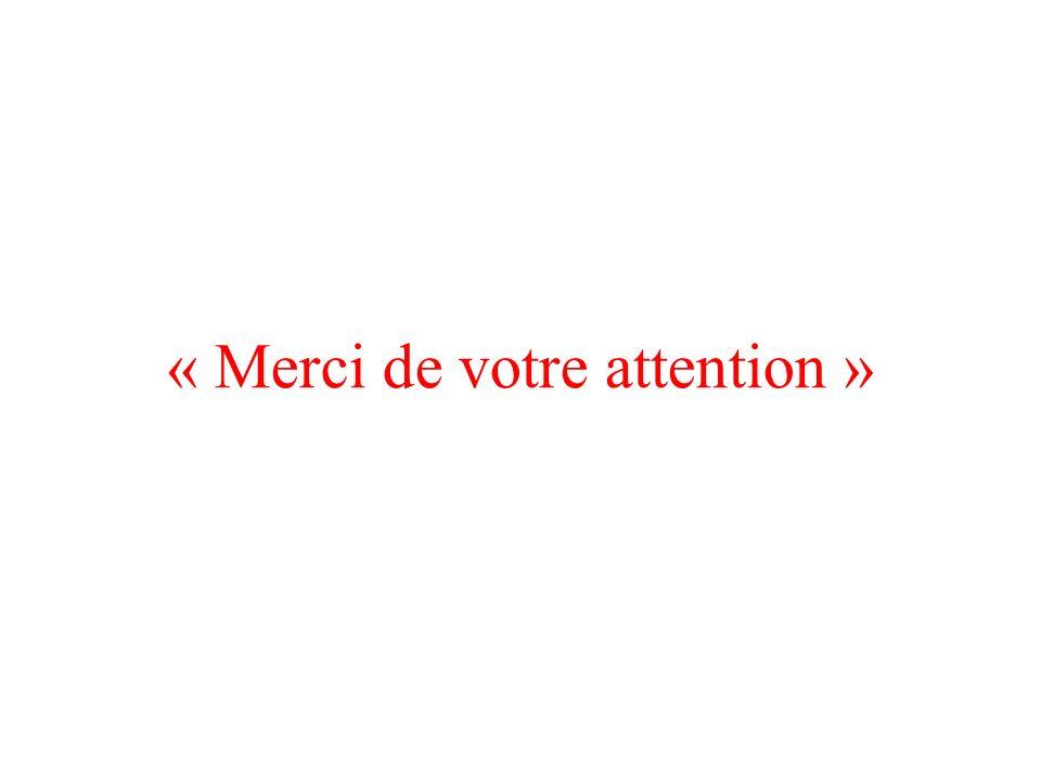 « Merci de votre attention »