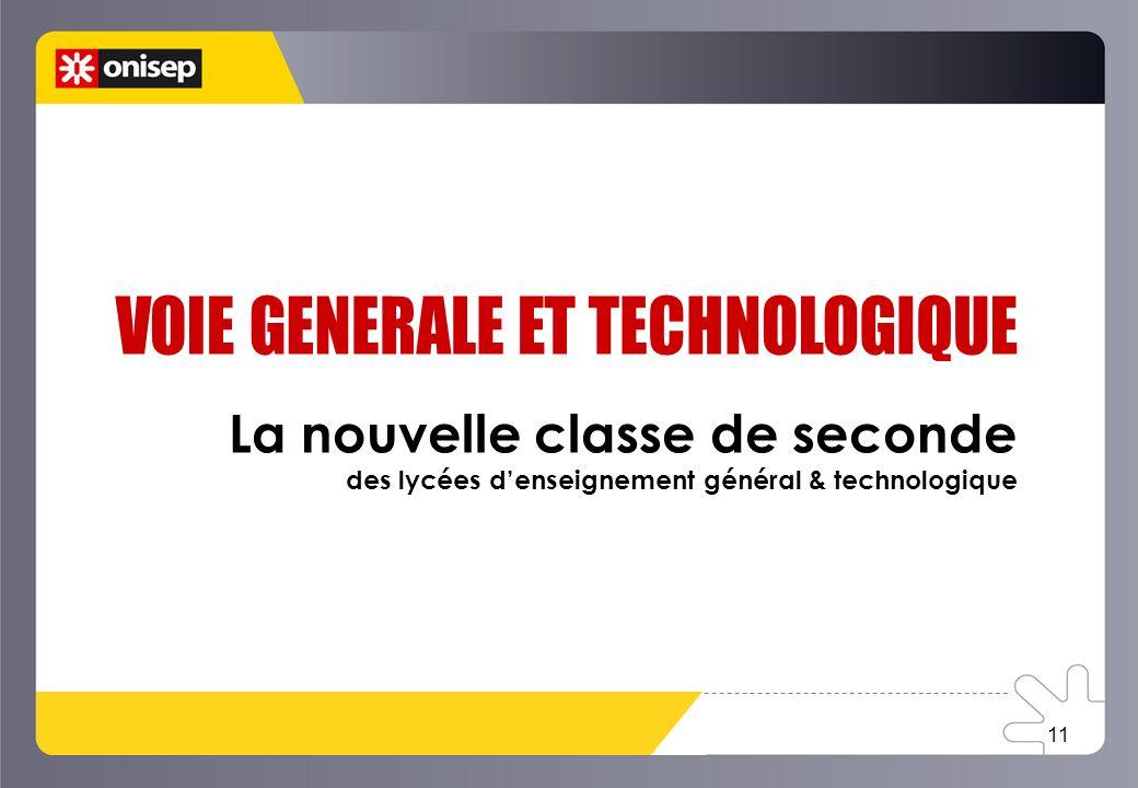 La nouvelle classe de seconde des lycées denseignement général & technologique 11