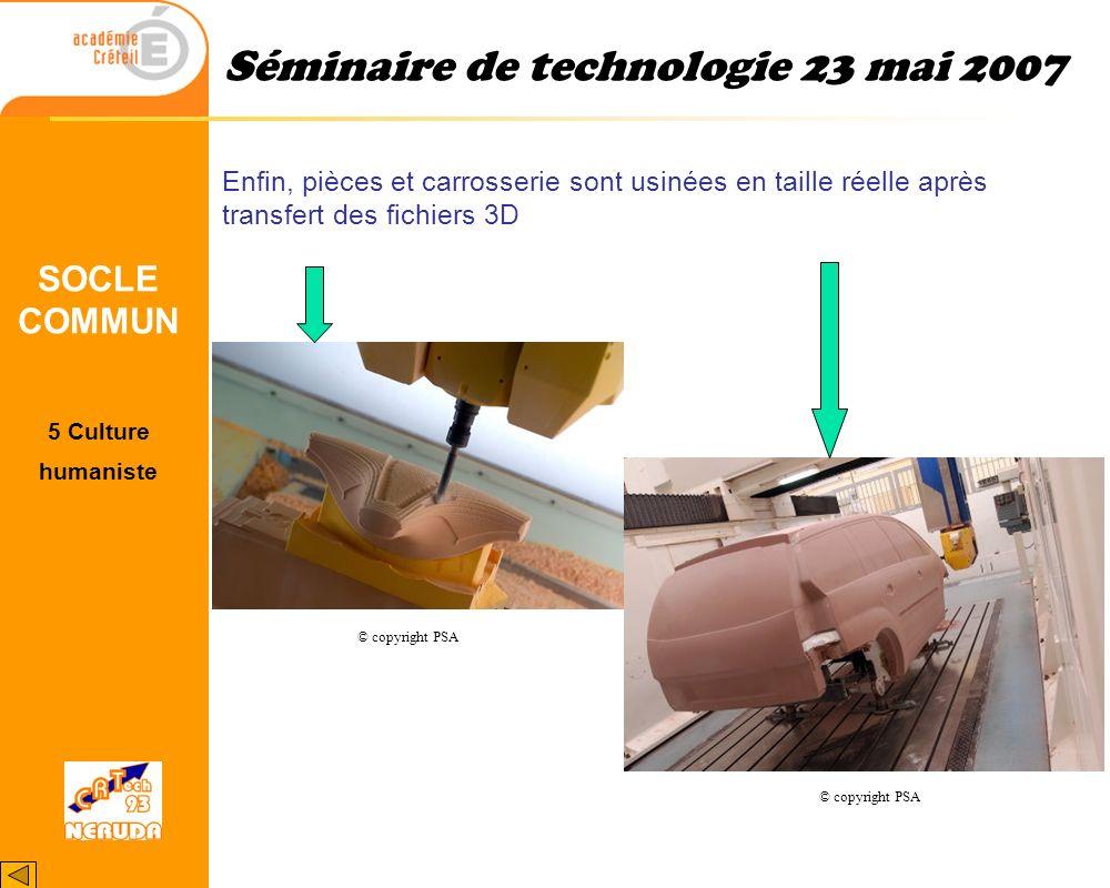 1Thèmes retenus. 2Pourquoi ? 3Cadre du projet 4Le projet 5 Site ressources 6 Remerciements. Séminaire de technologie 23 mai 2007 © copyright PSA 5 Cul