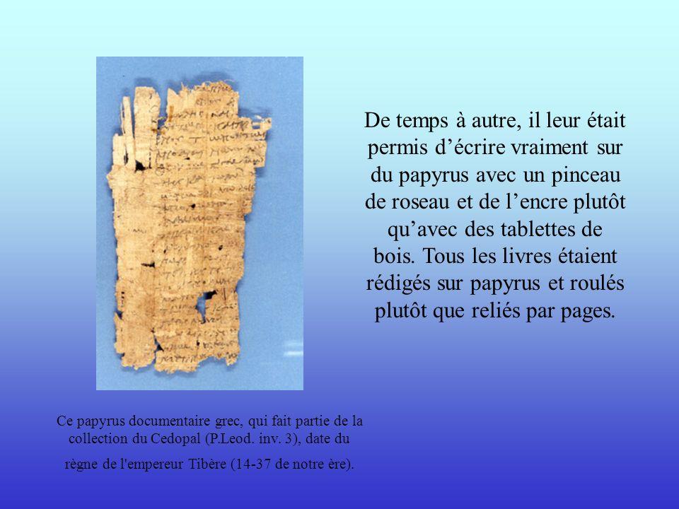 Ce papyrus documentaire grec, qui fait partie de la collection du Cedopal (P.Leod. inv. 3), date du règne de l'empereur Tibère (14-37 de notre ère). D