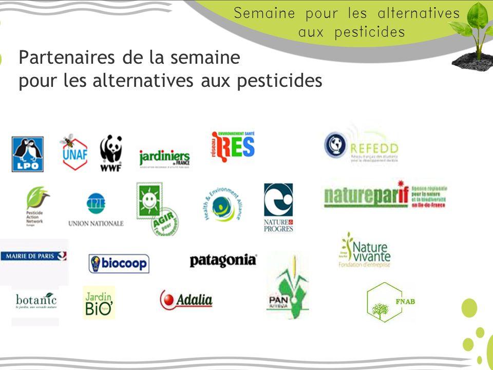 Partenaires de la semaine pour les alternatives aux pesticides